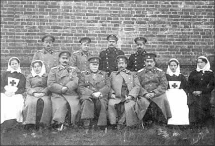 Military doctors and nurses, 1905. They took part in Russian-Turkish war